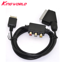 Cable conductor de TV, Cable Scart con adaptador AV Box para p laystation 2 para consola de P S2