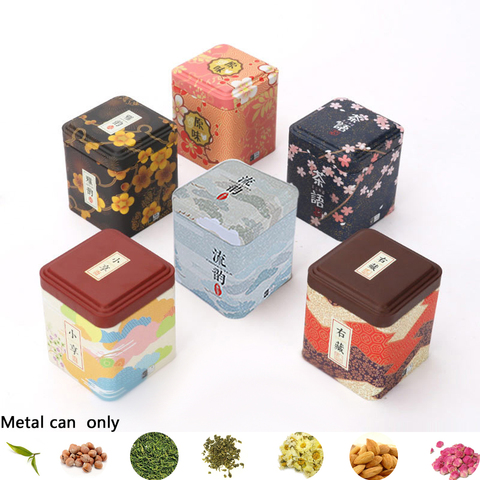 1PC Vintage Tea Caddy Pastoral Candy Tin Mini Iron Storage Boxes Sealed Coffee Powder Cans Tea Leaves Container Metal Organizer Lahore