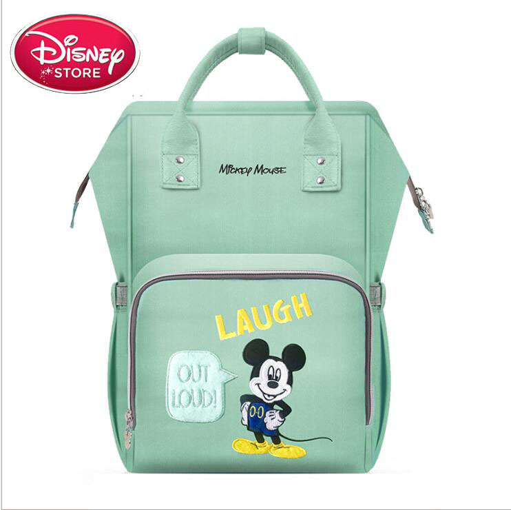 Disney Mickey Diaper Bag Multifunction Outdoors Backpack Minnie Mouse Baby Bag For Outdoors Travel Mommy Bag