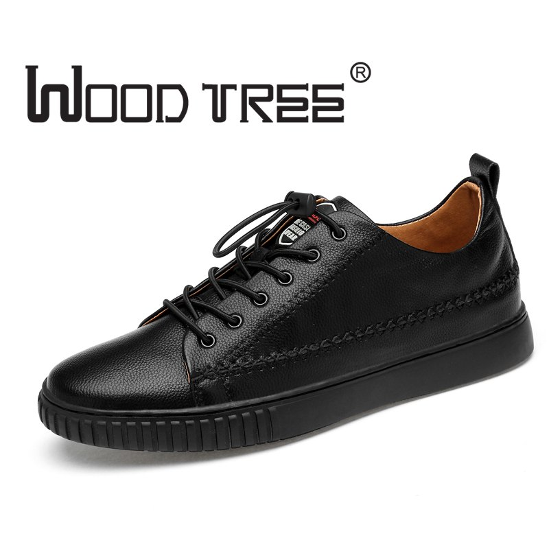 Woodtree Brand Genuine Leather Men Casual Shoes Spring Summer 2018 New Arrival Breathable Soft Men's Handmade Flats Men Shoes leather shoes handmade shoes spring and summer new style soft genuine leather flats shoes shoes for pregnant women flats