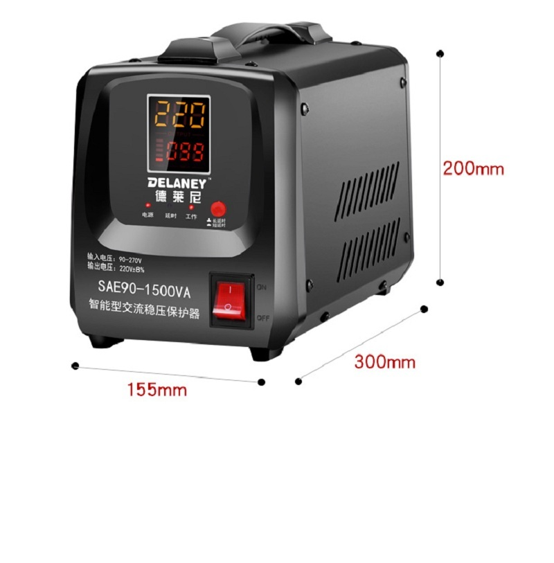 Voltage Regulator 220v Fully Automatic Household Small Single-Phase Special Voltage Regulating Power Supply