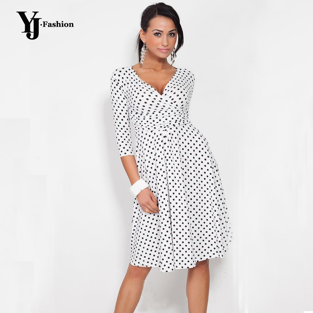 Online get cheap stretchy summer maternity dresses aliexpress fashion plus size women 2017 spring summer polka dot print office work ol dresses casual vintage tunic stretchy maternity dress ombrellifo Images