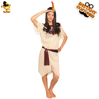 DSPLAY Lady American Indian Native Roleplay Outfits Carnival Cosplay New Style Fancy Dress Sexy Indian Woman Party Costume