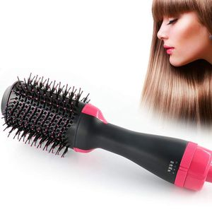 Image 1 - Многофункциональная вращающаяся щетка для волос, стайлер с вращающимся роликом, Расческа для укладки, выпрямления, завивки, горячего воздуха