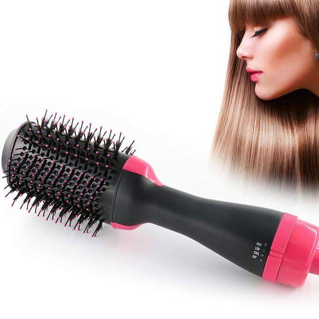 Многофункциональная вращающаяся щетка для волос, стайлер с вращающимся роликом, Расческа для укладки, выпрямления, завивки, горячего воздуха