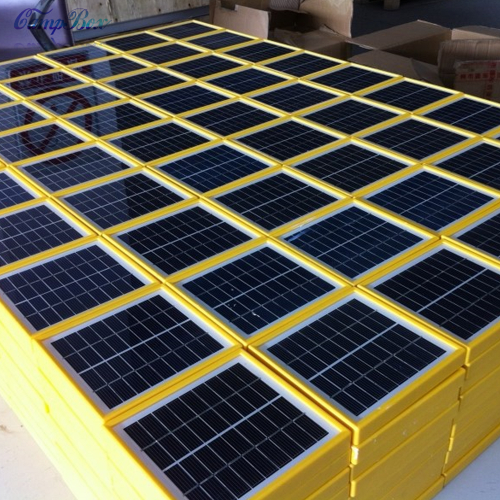 1pcs 9v 2w 140mm 130mm Glass Laminated Polycrystalline