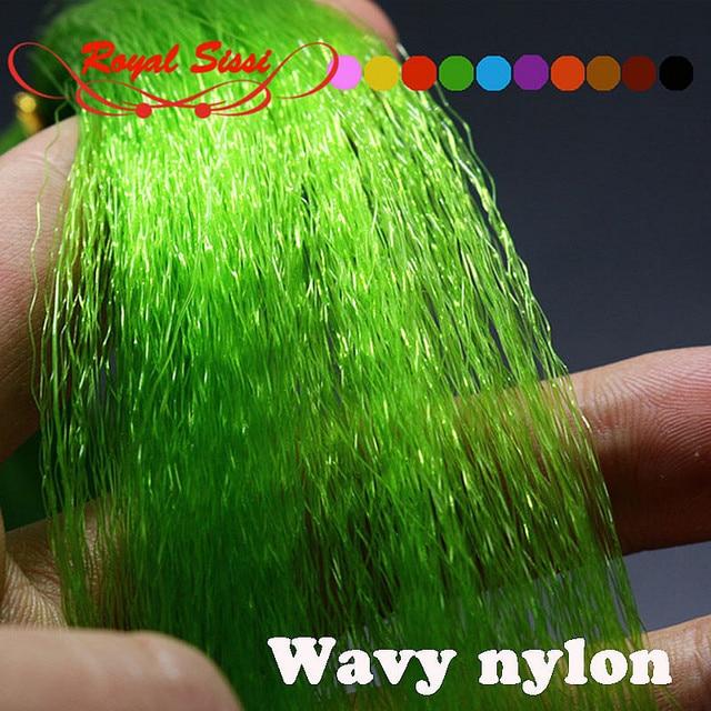 2 пачки набор 12 дополнительных Цвета мушек волнистые нейлоновых волокон прочный рыбалка приманка волокон обманщик растяжки мушек материалы