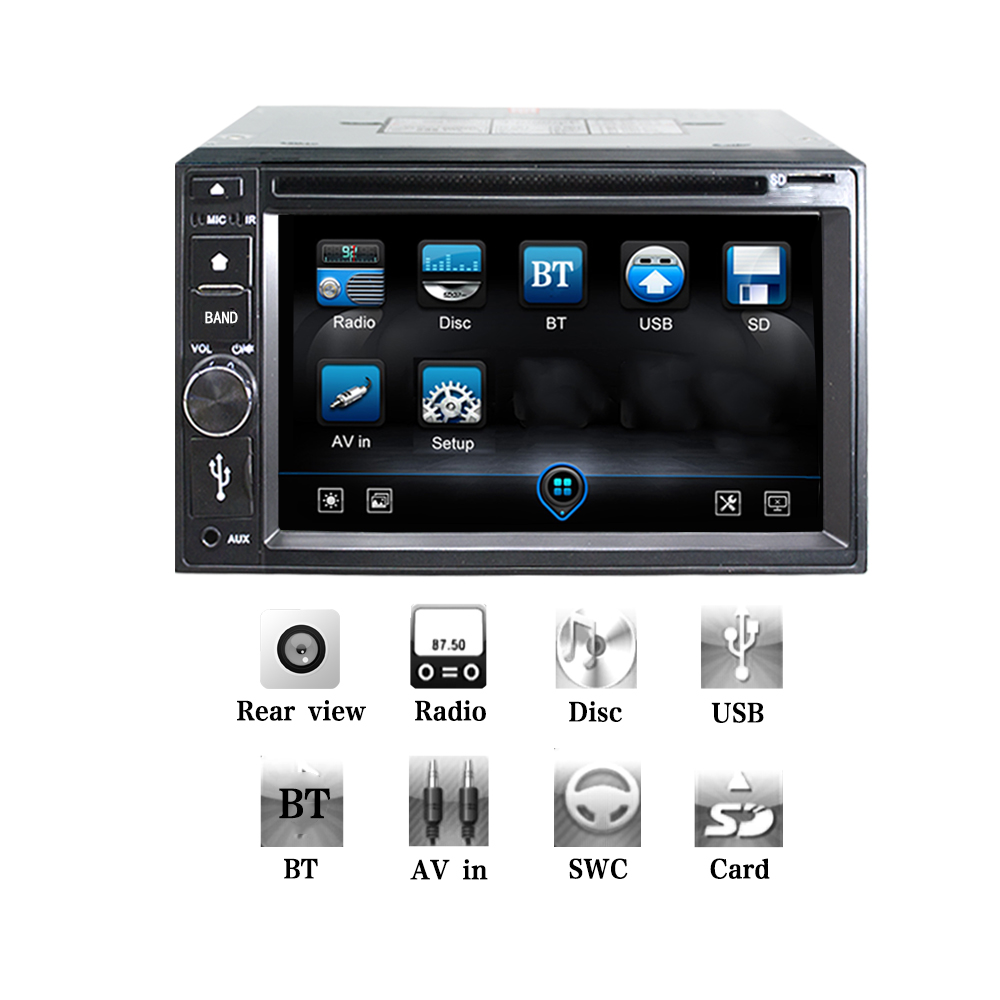 2DIn Car DVD CD MP3 WMA Player Car Stereo Radio Bluetooth Hands free Music Streaming Universal Player steering wheel control0354 automotive supplies bluetooth hands free system music player car charger f launch vehicle p3