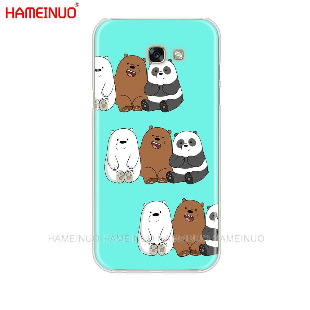 HAMEINUO we bare bears cell phone case cover for Samsung Galaxy A3 A310 A5 A510 A7 A8 A9 2016 2017 2018