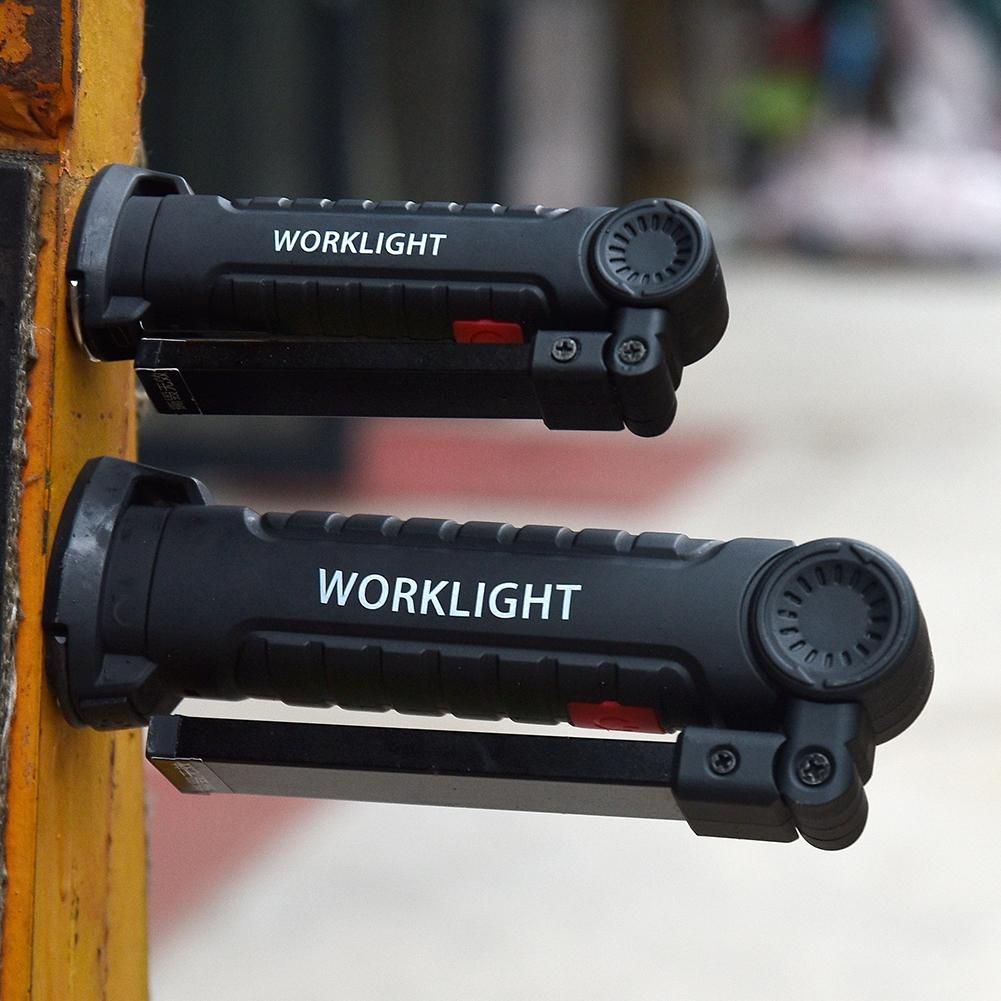 Portable Bright COB LED Lights USB Charging Magnet Lamp Red Light Emergency Flashlight