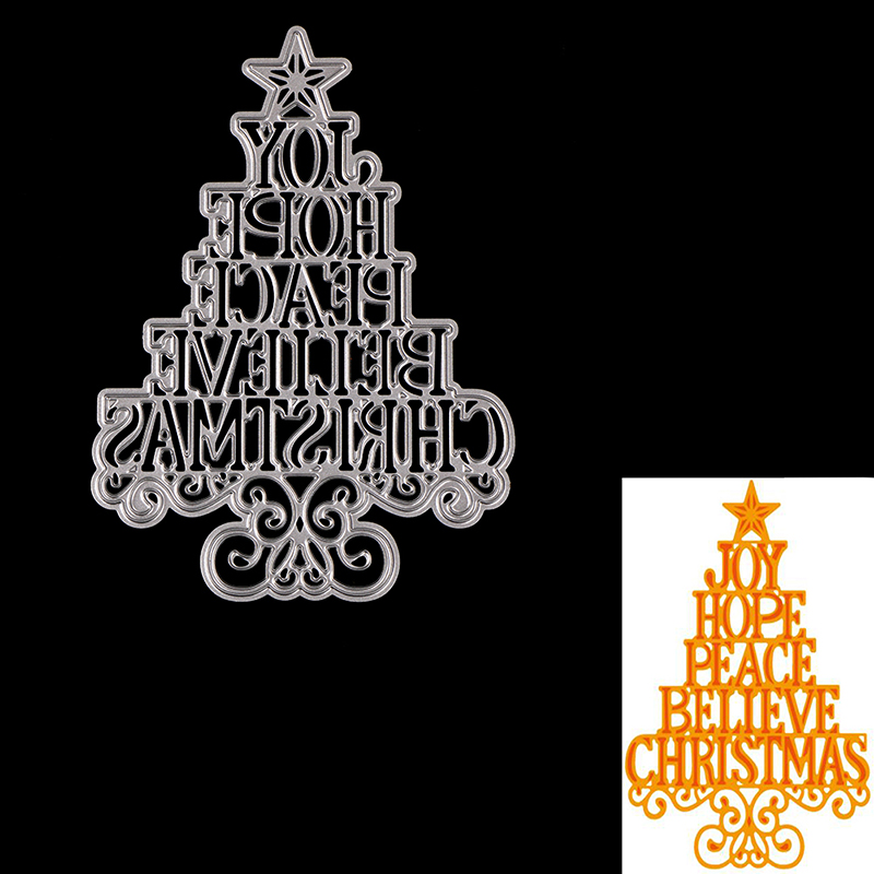Christmas Tree Stencils: Decorative Christmas Tree Letters Stencils Scrapbooking