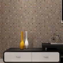 beibehang lattice Mosaic Metallic Wall paper roll Decor wallpaper contact  paper