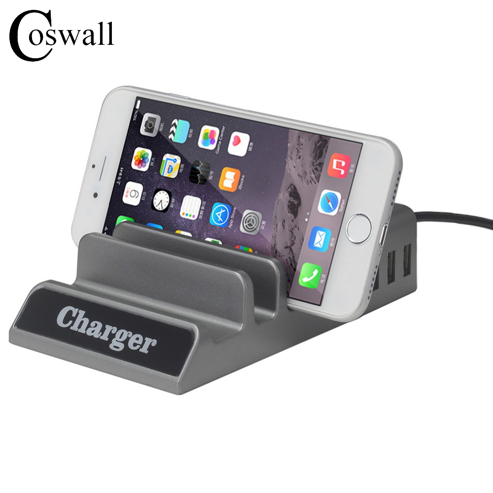 Coswall USB Power Strip Extension Socket 4 Way USB Super Charging Port...