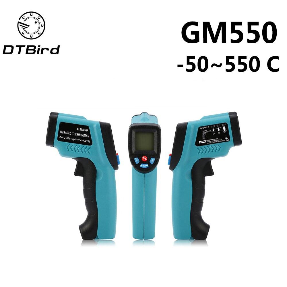 GM550 -50~550 C GM320 -50-300 Digital infrared Thermometer laser Temperature Gun Pyrometer Aquarium Emissivity Adjustable