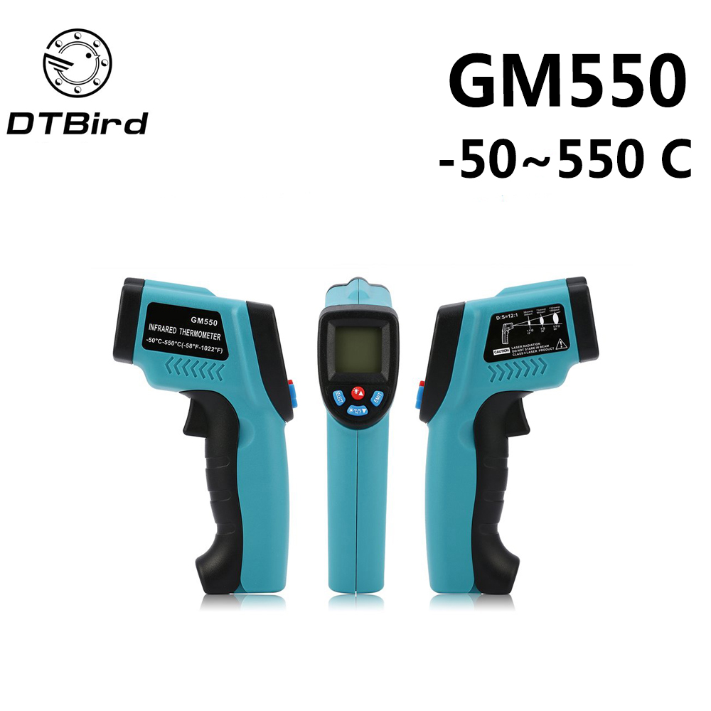 GM550-50 ~ 550 C GM320-50-300 Digital infrarot Thermometer laser Temperatur Gun Pyrometer Aquarium Emissionsgrad einstellbar