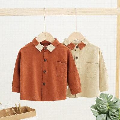 1 2 3 4 5 Jahre Jungen Hemd Casual Baumwolle Lange Ärmel Shirts Kinder Kleidung Mode Koreanische Baby Jungen Kleidung Neugeborenen Baby Shirts