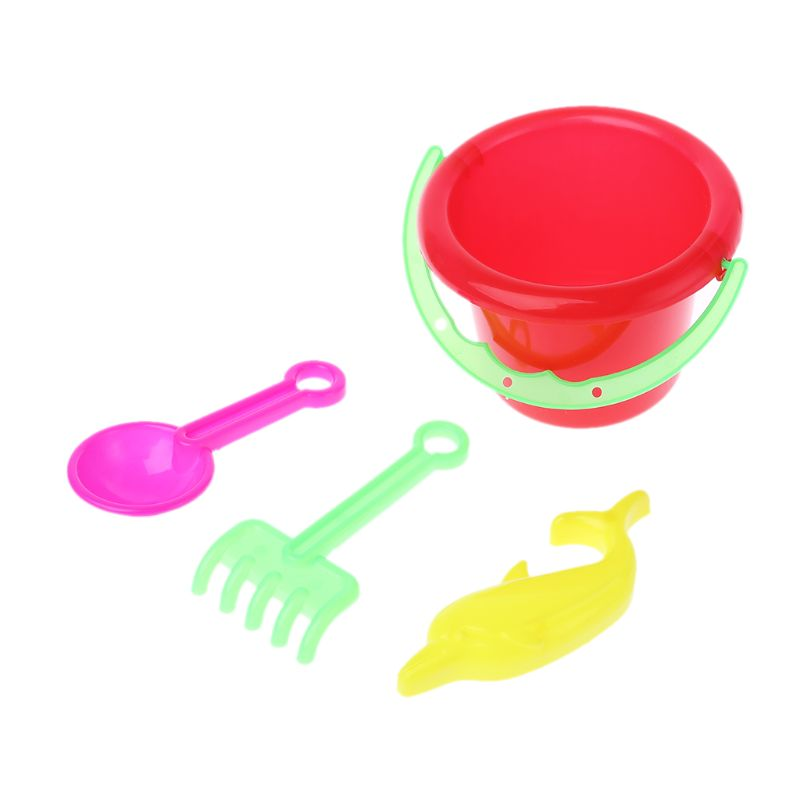Free Shipping 5Pcs/Set Tiny Beach Sand Toys Tools Bucket Set For Toddler Kids Children Gift