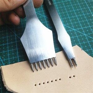 Image 4 - Инструменты для обработки кожи Junetree, ремесла «сделай сам», дырокол для шитья, Дырокол с расстоянием 3 мм/4 мм, 2 + 7 зубцов