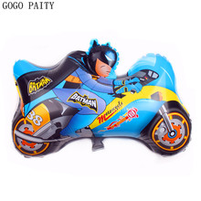 GOGO PAITY Free Shipping Motorcycle Superman Aluminum Balloon Balloon Cartoon font b Toys b font Decorative