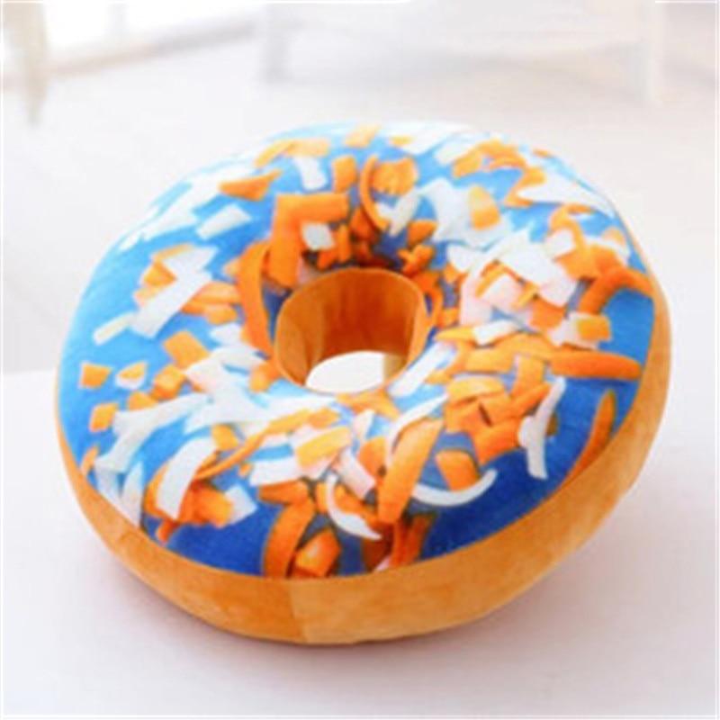 40cm Cute Donut Simulation Decorative Cushion And Soft Plush Pillow Without Stuffed Seat Pad