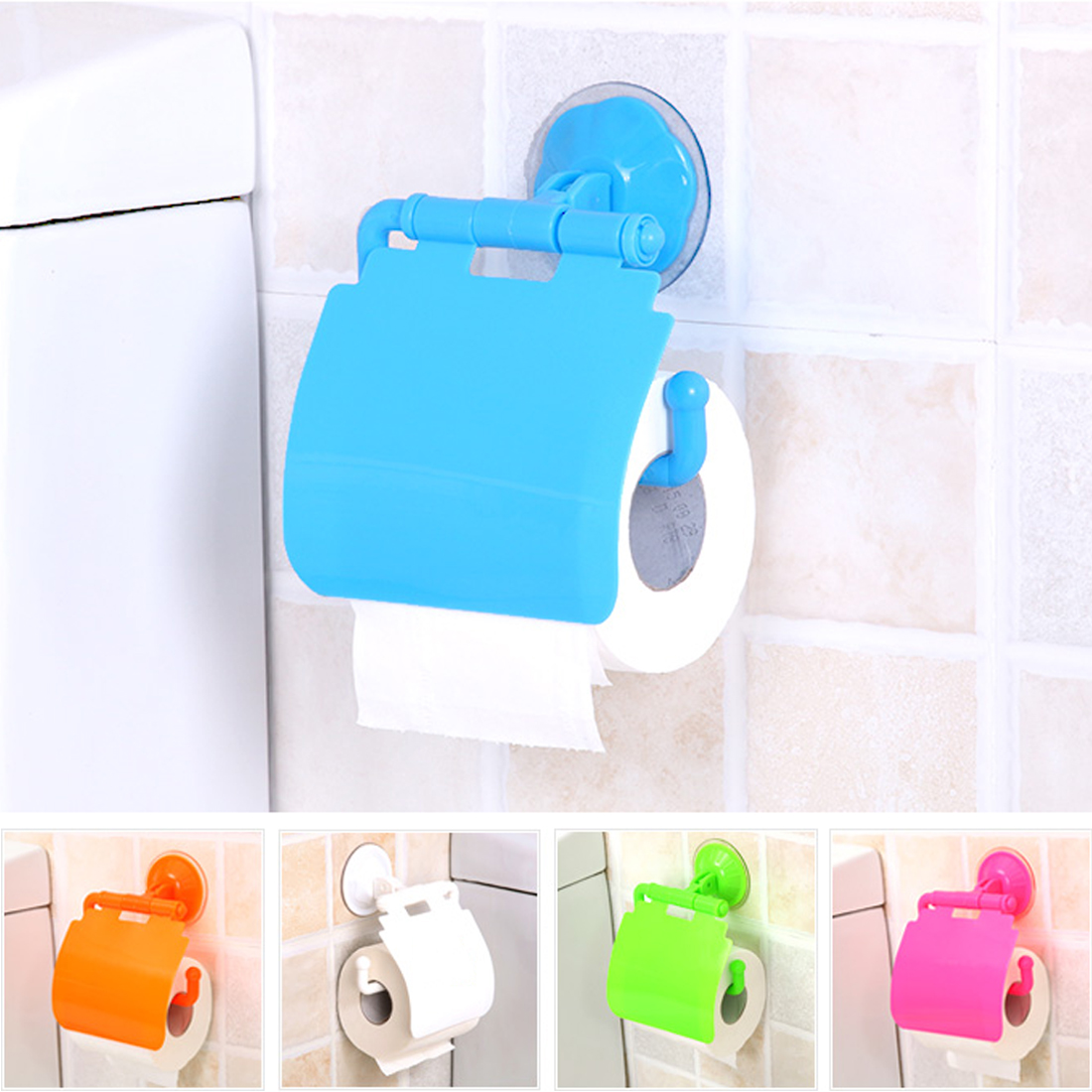 New Home Decoration Plastic Toilet Bathroom Kitchen Wall Mounted Roll Paper Holder Waterproof