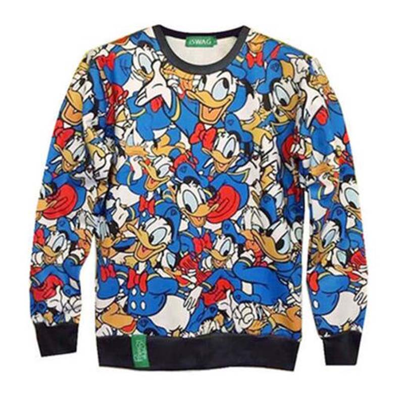2018 3D Ladies Long Sleeve Sudadera Anime Animation Donald Duck Print - Ropa de hombre