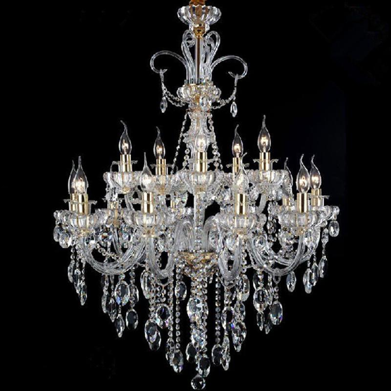 Milan Traditional Crystal Chandelier For Duplex Buildings Villa Hotel Bedroom Candle Chandeliers Vintage Lighting In From Lights