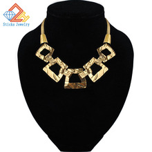 Popular in Europe and luxurious atmosphere alloy plating clavicle chain necklace jewelry, free shipping