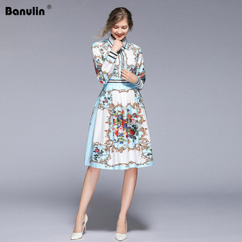 aa1b758678bbd8f Product Offer. Banulin Новое поступление 2019 модное весеннее платье для  подиума женское с длинным рукавом ...