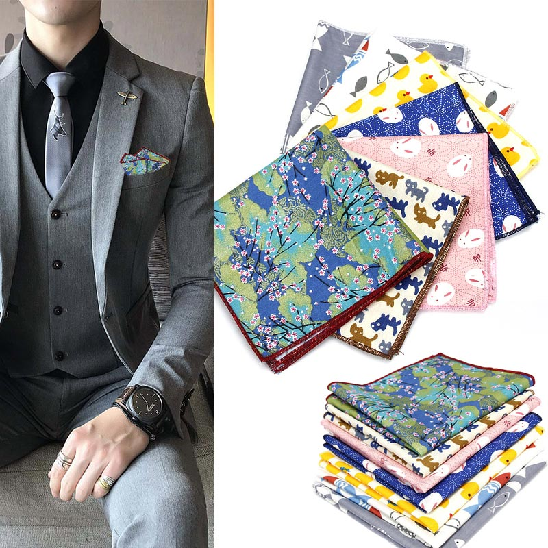 2018 New Arrival Men Pocket Square Handkerchief Hanky Printing Fashion For Wedding Party Business Groom Suit LL@17