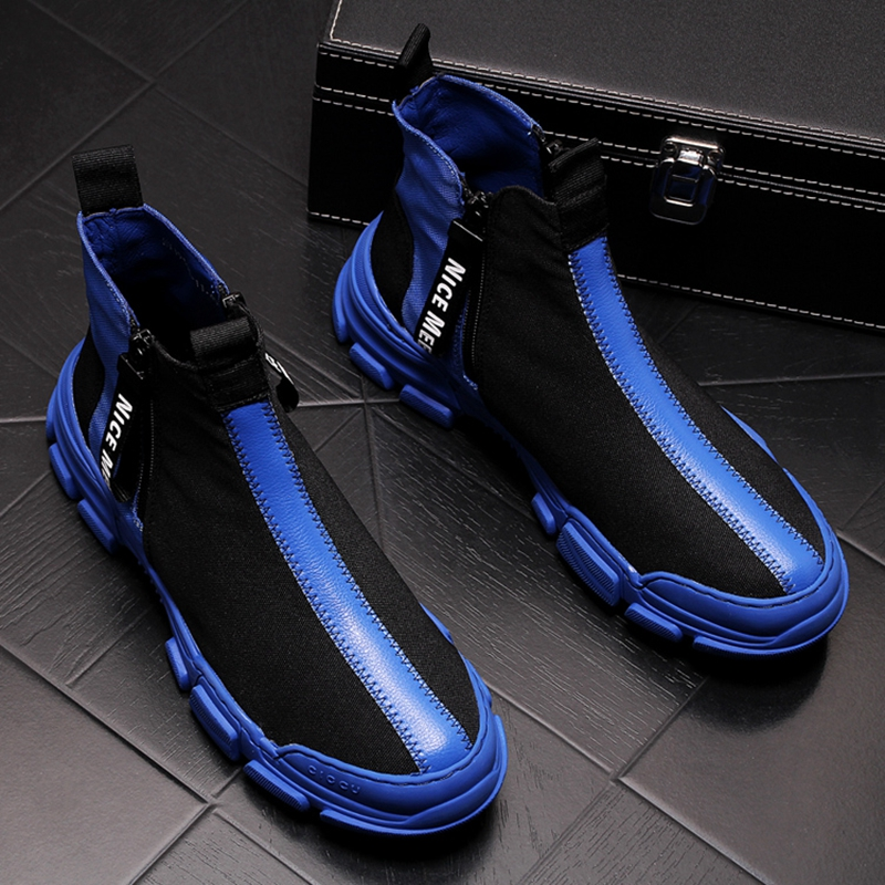 Stephoes New Arrival Men Fashion Casual High Top Shoes Spring Autumn Breathable Youth Trend Leisure Ankle Boots Male Sneakers