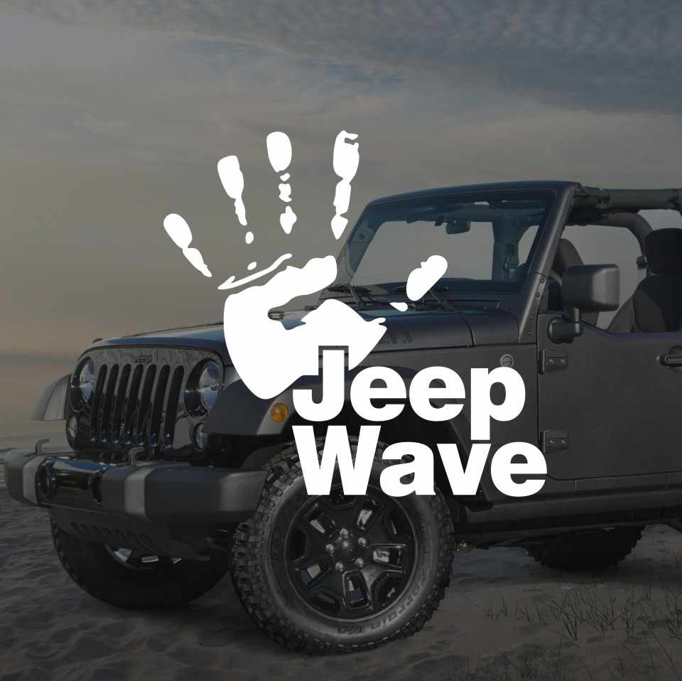 Funny jeep wave hand vinyl decal sticker car styling jeep talk car stickers and decals for