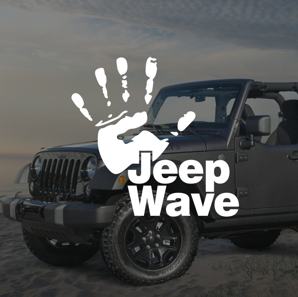 Funny Jeep Wave Hand Vinyl Decal Sticker Car Styling Jeep Talk Auto Stickers and Decals for Jeep Wrangler Cherokee Compass