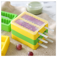 1PCS Homemade Ice Cream Popsicle Mold Creative Summer Ice Sucker Box Popsicle Molds Freezer Ice Cream Tools Color random