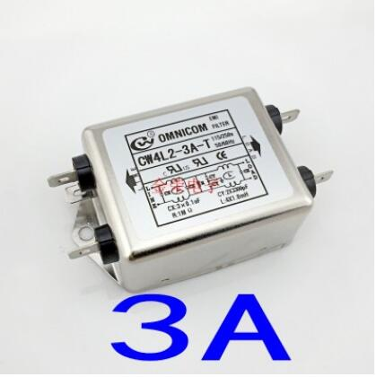 цена на 1PCS Insert type AC filter 220V Anti-interference EMI DC socket Power Purifier CW4L Sound 12V Car fever