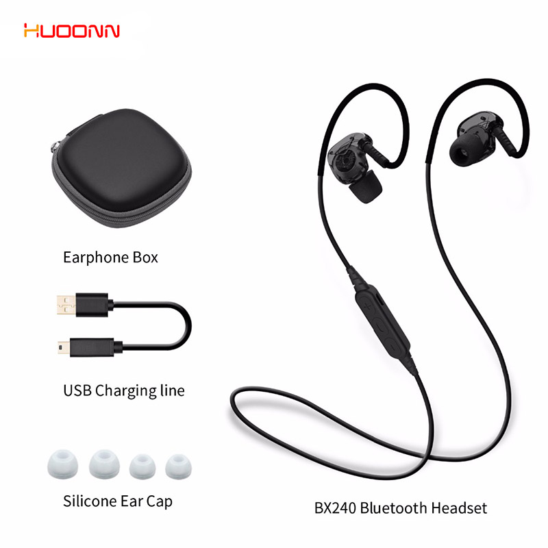 BX240 Auriculares Bluetooth Earphone Headset Sports Wireless Heavy Bass Stereo Waterproof Headphones for iPhone 7 Plus remax 2 in1 mini bluetooth 4 0 headphones usb car charger dock wireless car headset bluetooth earphone for iphone 7 6s android