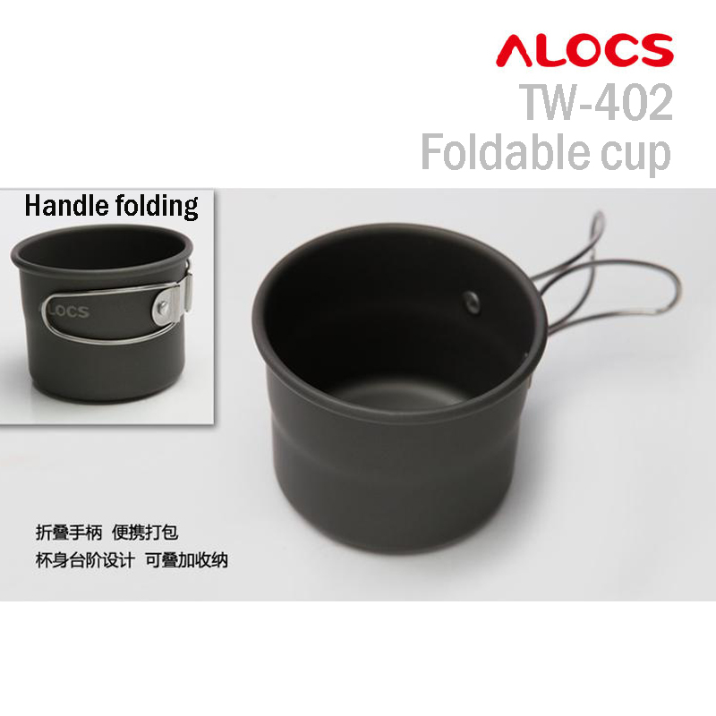 Alocs TW-402 150ml Fold-able and Stacking Up Outdoor Coffee Milk Tea Ultra-light Cup