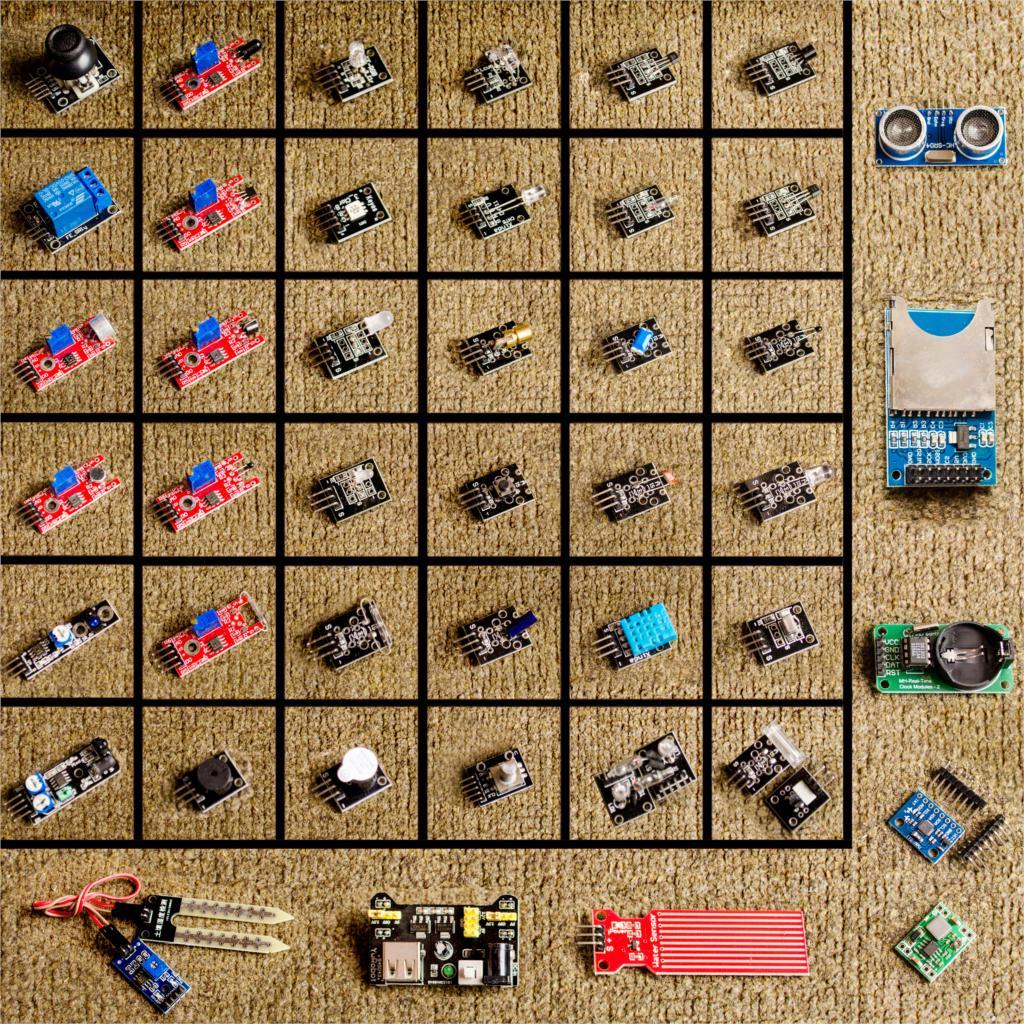 Para arduino 45 em 1 sensores módulos starter kit melhor do que 37in1 sensor kit