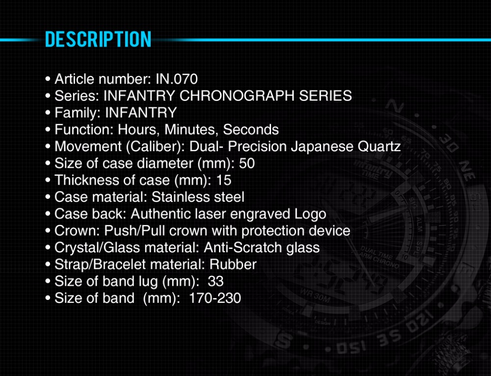 Topdudes.com - INFANTRY Top Men's LED Digital Luxury Military Tactical Army Silicone Relogio Masculino Wristwatch