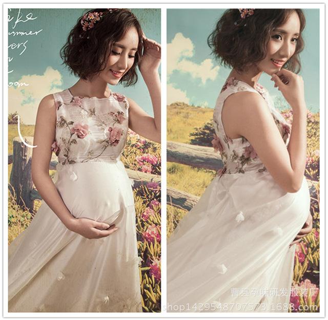 2016 nova maternidade fotografia adereços fotografia de maternidade dress dress para as mulheres grávidas gravidez maxi dress para sessão de fotos