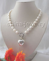 fast Beautiful 18 11 12mm white baroque freshwater pearl necklace p AAA