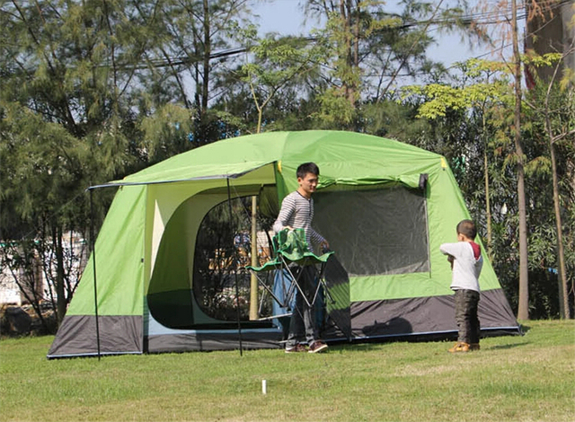 Super Large Space Anti-Rain Outdoor C&ing Family Tent With Two Bedrooms and One Living & Super Large Space Anti Rain Outdoor Camping Family Tent With Two ...