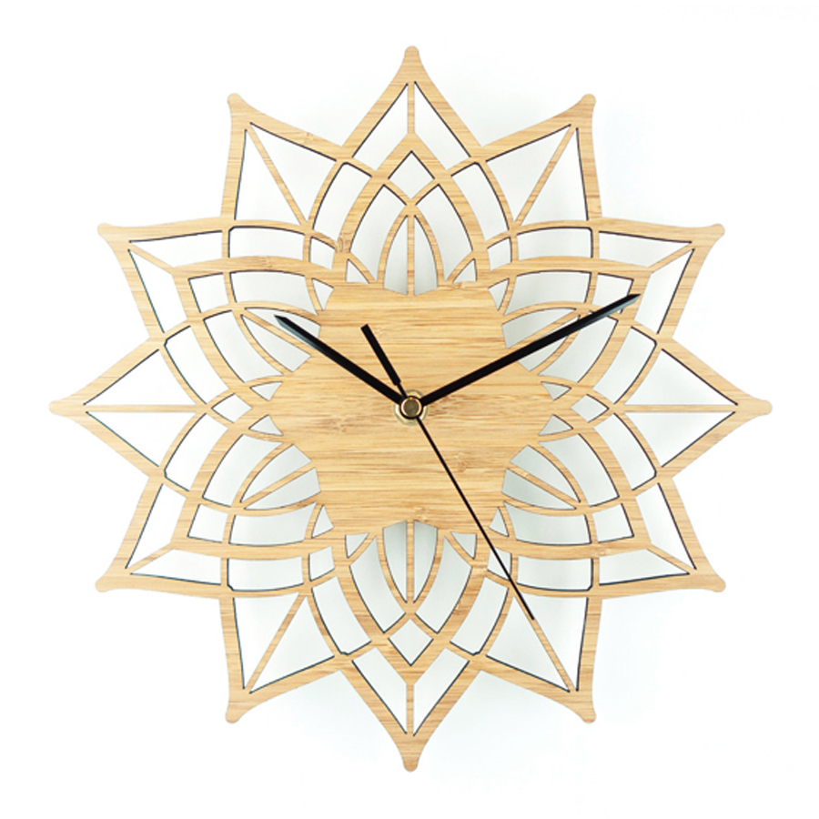 Holz Wanduhr Einfaches Modernes Design Dekorative Wohnzimmer Blumen ...