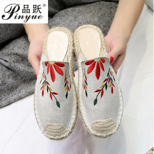 2018 Summer Graffiti Fisherman Shoes Flat Canvas Shoes Slip-on Leisure Breathable Linen Women Vulcanize Shoes Students Hemp New breathable women hemp summer flat shoes eu 35 40 new arrival fashion outdoor style light