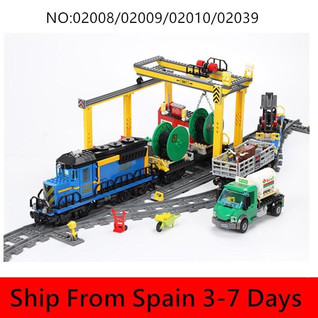 City Series Cargo RC Trains modèle blocs de construction Set Train de passagers Compatible 60052 60098 60051 3677 jouets pour cadeau de noël