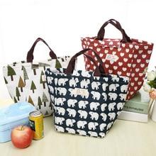 Etya модные Портативный изолированные холст обед сумка Термальность Еда Пикник Сумки для обедов для Для женщин дети Для мужчин охладитель Коробки для обедов сумка