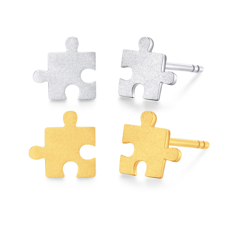 New Arrival Italy Design AU750 Gold Stud Earrings цена