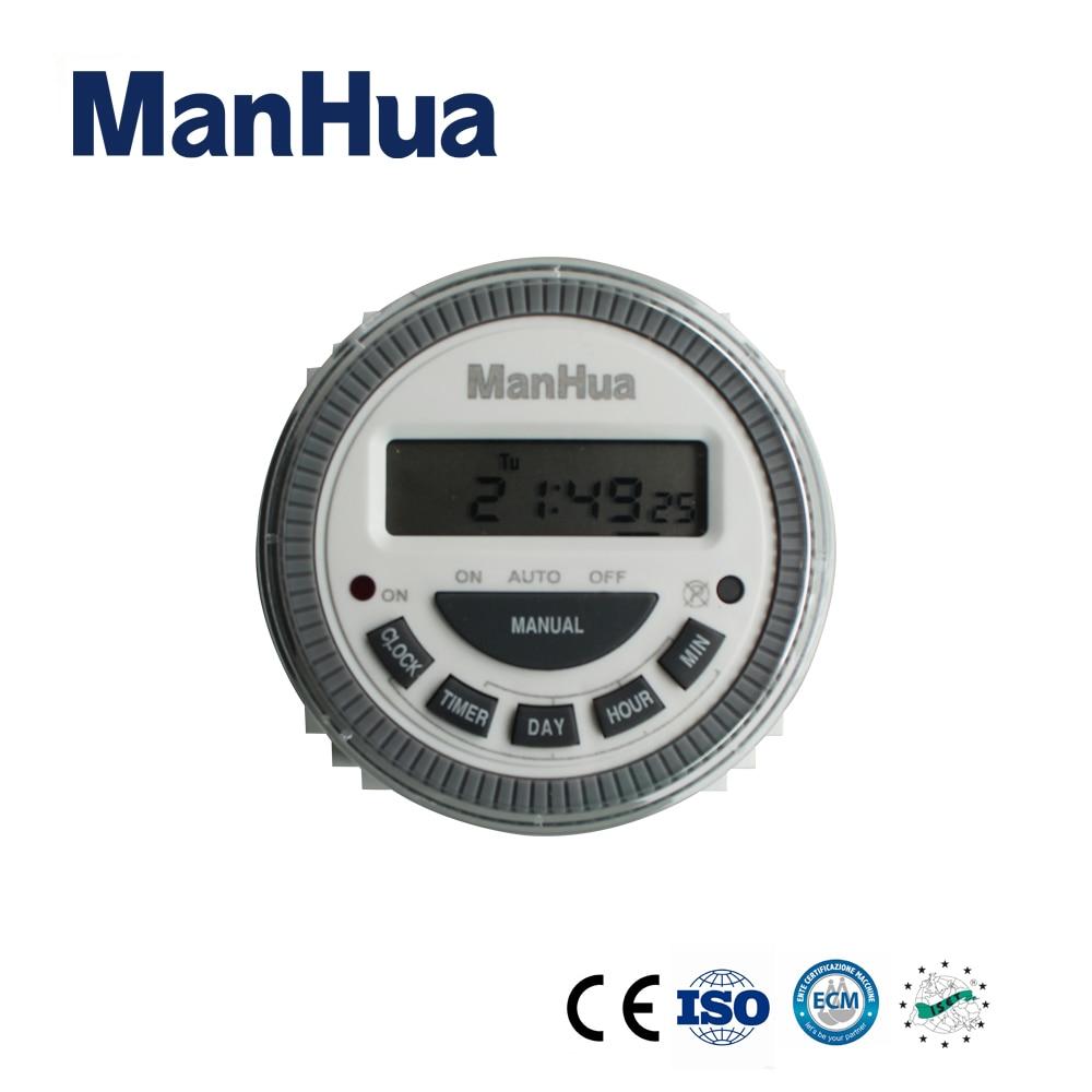 Hart Arbeitend Manhua 220vac Mt619t Wöchentlich Zeit Relais Mit Lcd Display Digital Timer Schalter Freigabepreis Timer