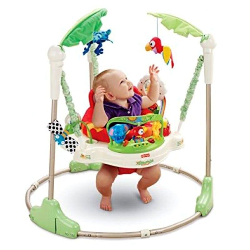 Multifonctionnel électrique bébé sautant marcheur berceau forêt tropicale bébé balançoire chaise à bascule bébé activité Center électrique bébé balançoire