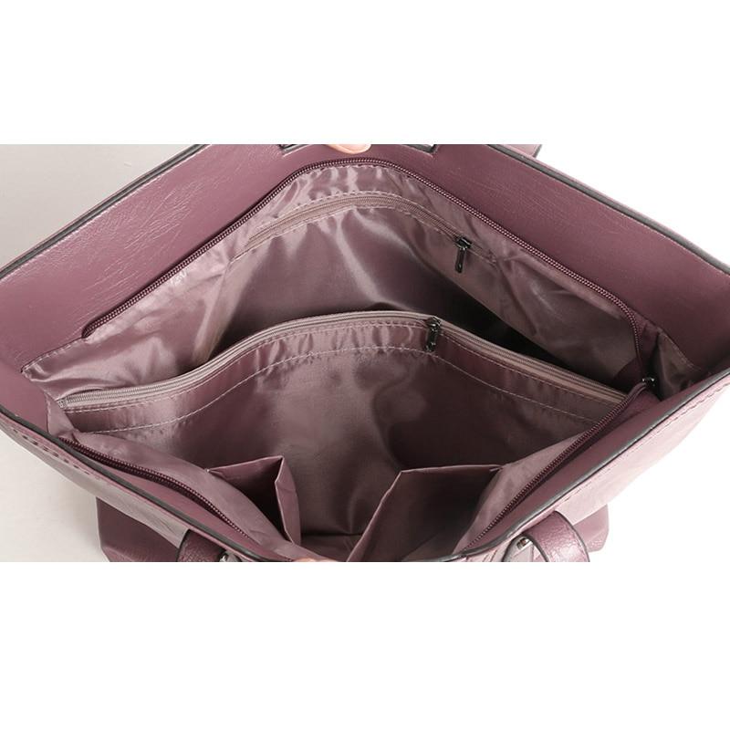 Luxury 3Pcs / Set naiste käekott crossbody kotid pu nahast naiste - Käekotid - Foto 6